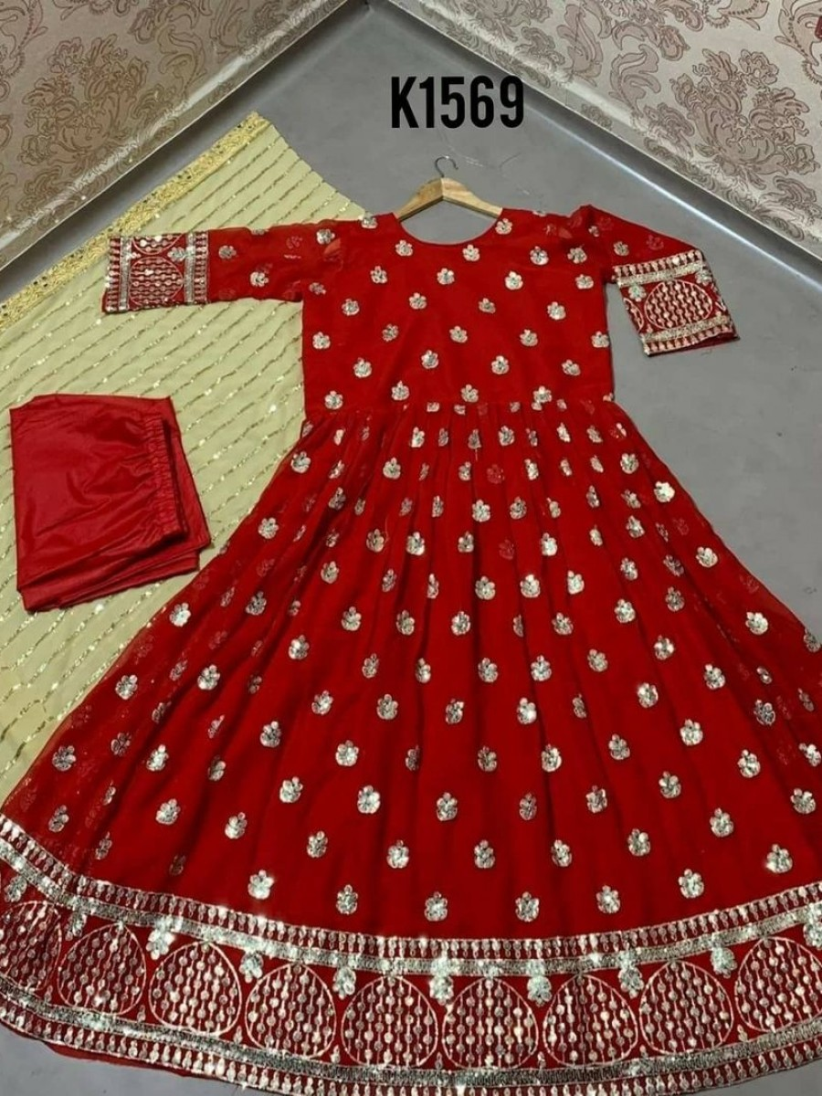 DESIGNER NEW PARTY WEAR ANARKALI K1569