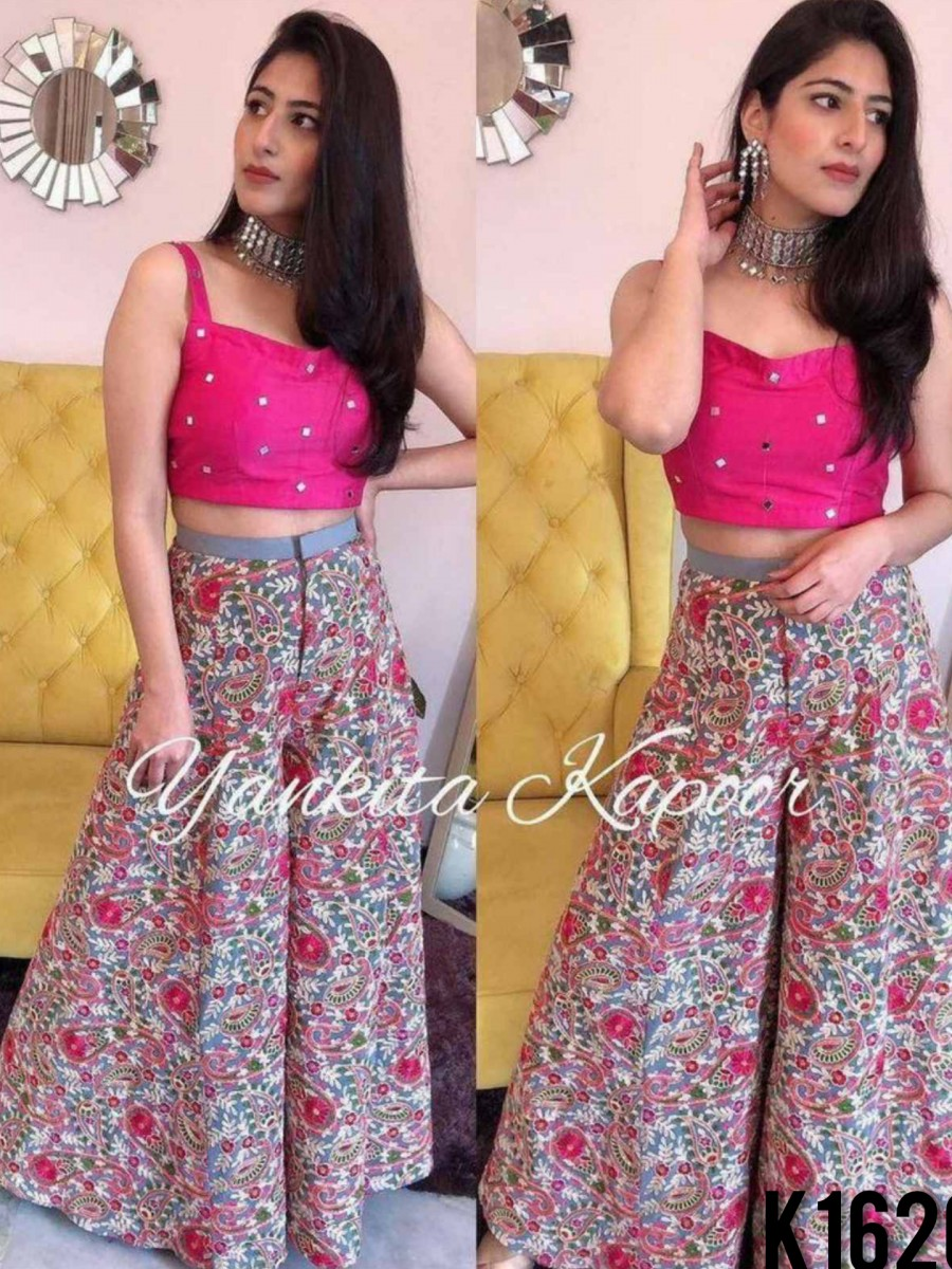 DESIGNER PARTY WEAR WESTERN CROP TOP K1620