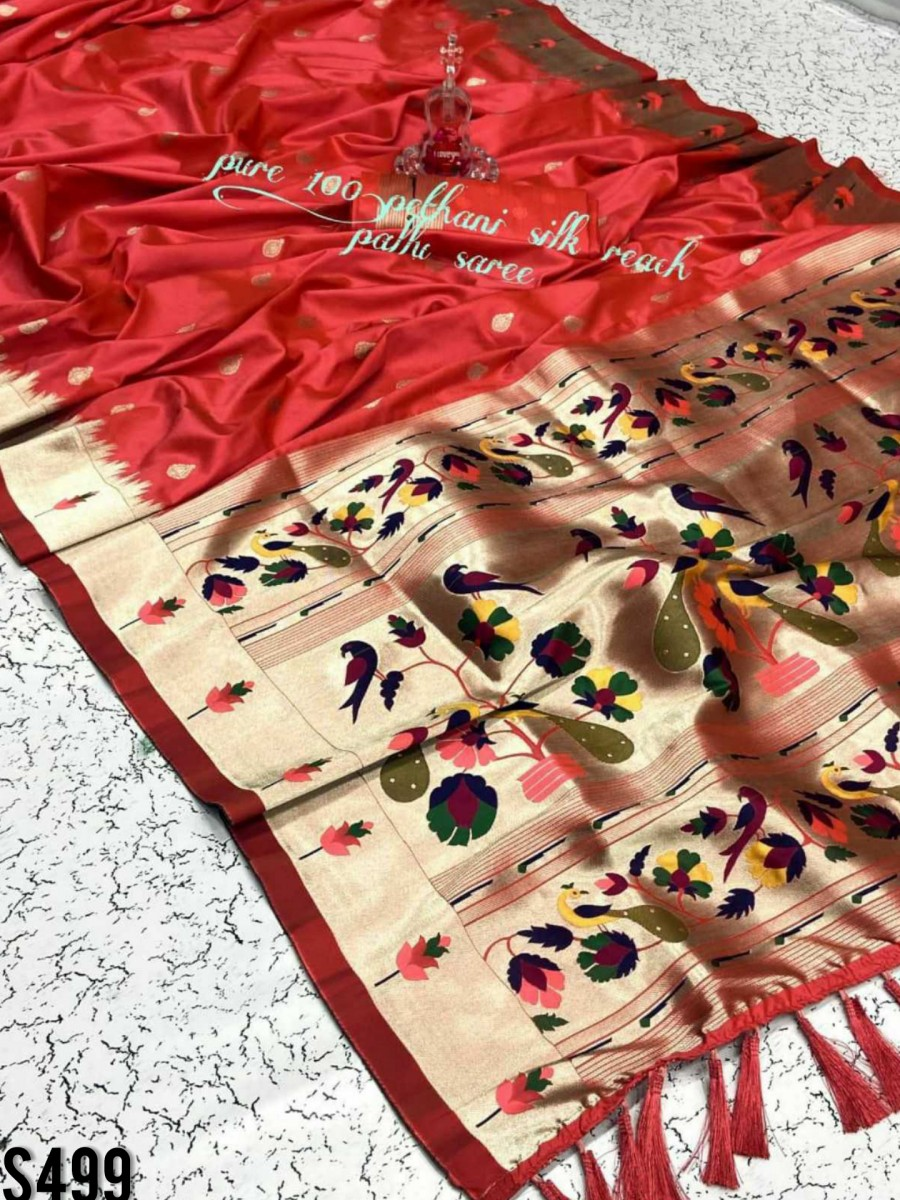 DESIGNER PURE SILK SAREE S499