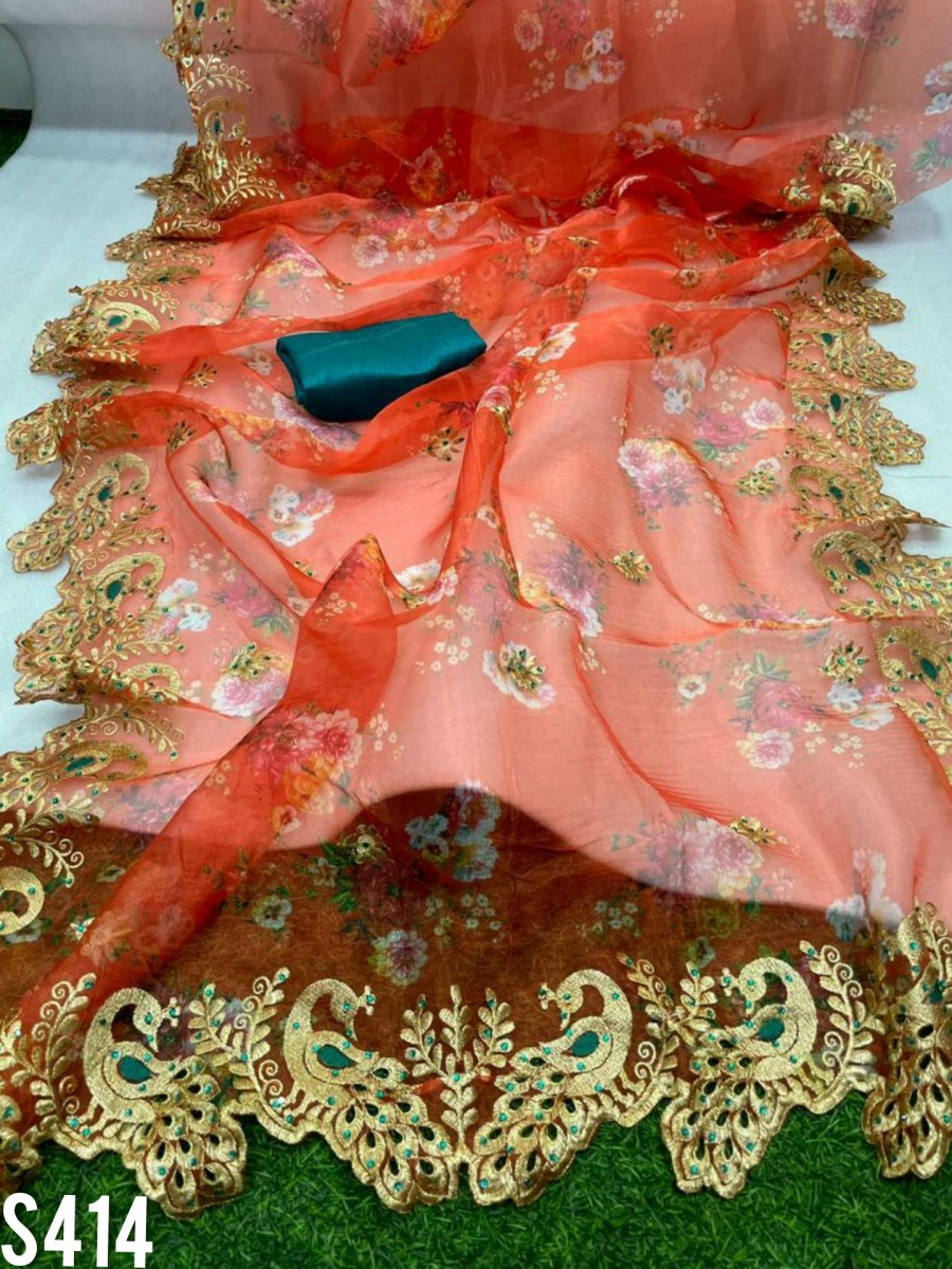 DESIGNER SATIN SILK SAREE S414
