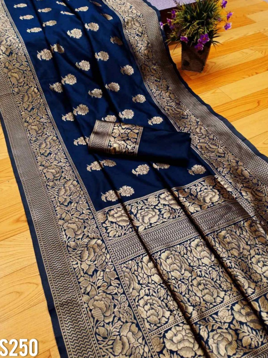 DESIGNER SOFT LICHI SILK SAREE S250
