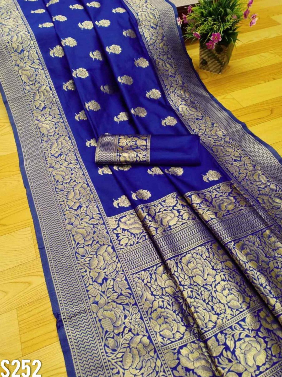 DESIGNER SOFT LICHI SILK SAREE S252