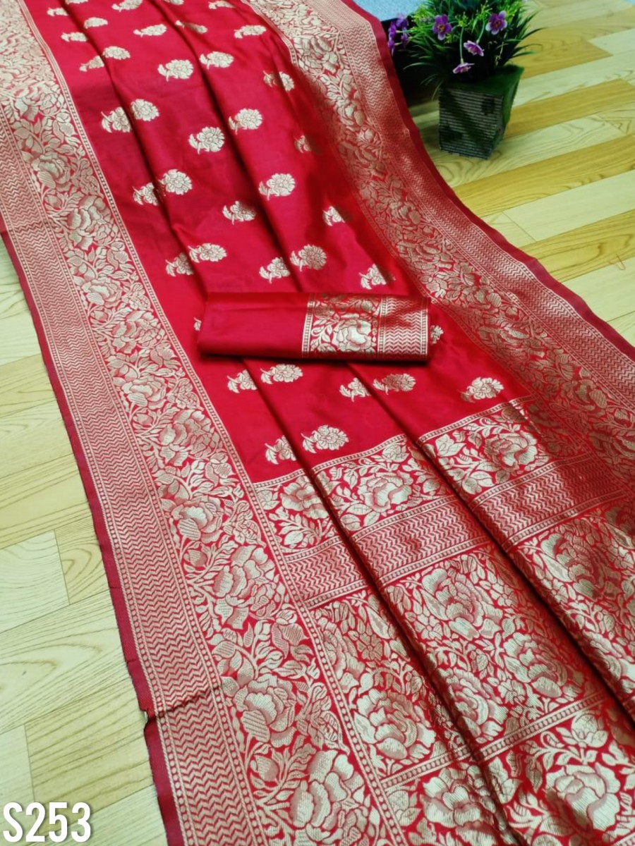 DESIGNER SOFT LICHI SILK SAREE S253