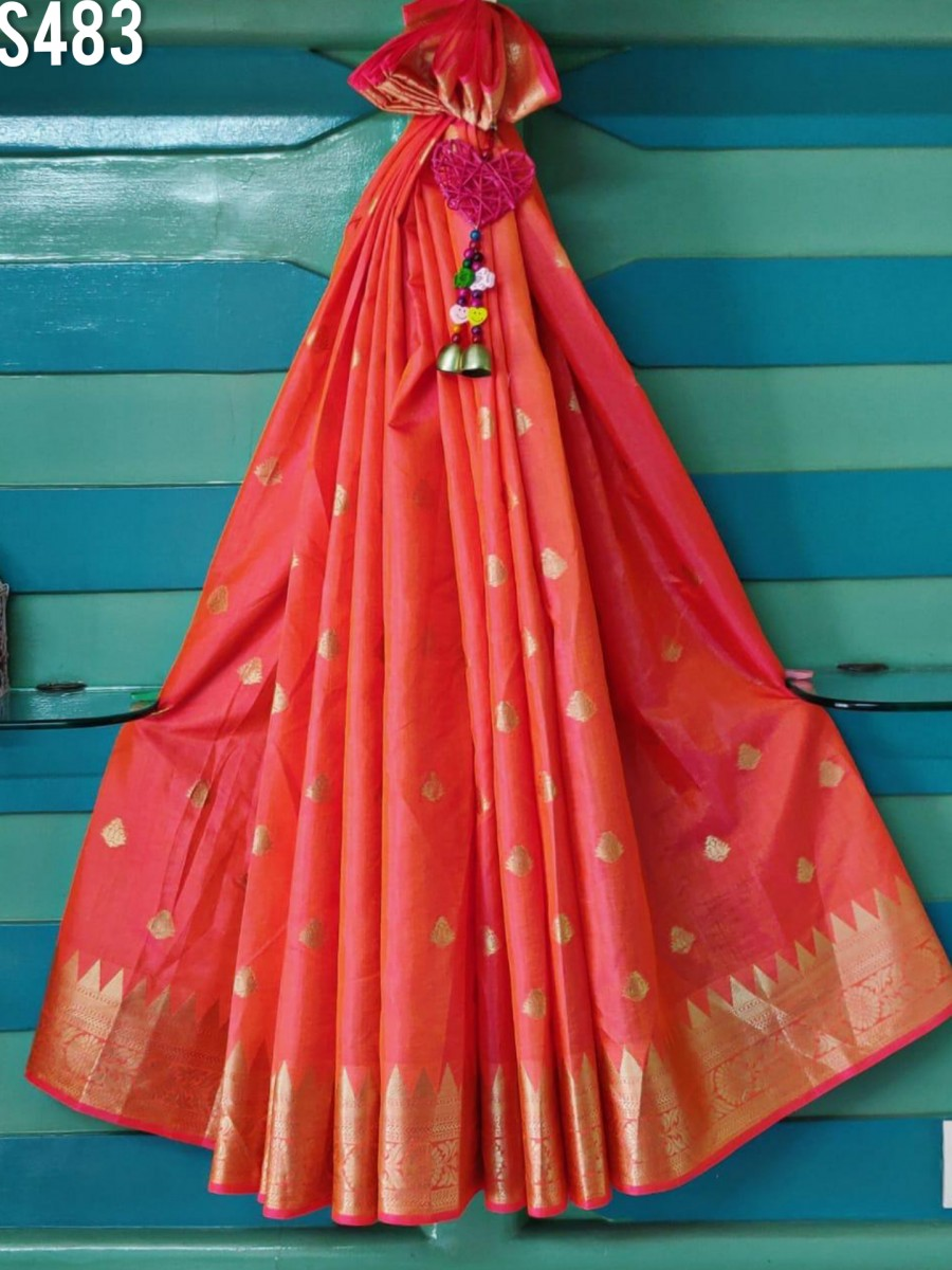 DESIGNER SOFT SANA SILK SAREE S483