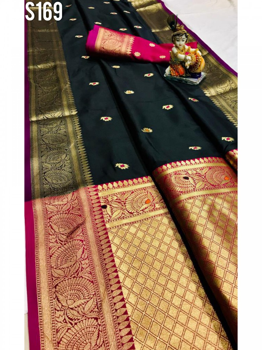 DESIGNER SOFT SILK SAREE S169
