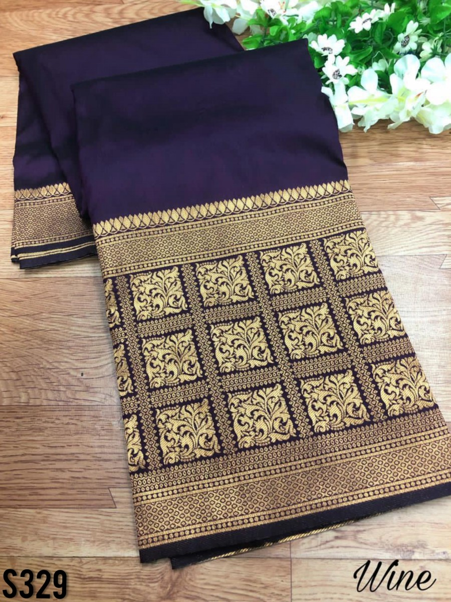 DESIGNER SOFT SILK SAREE S329