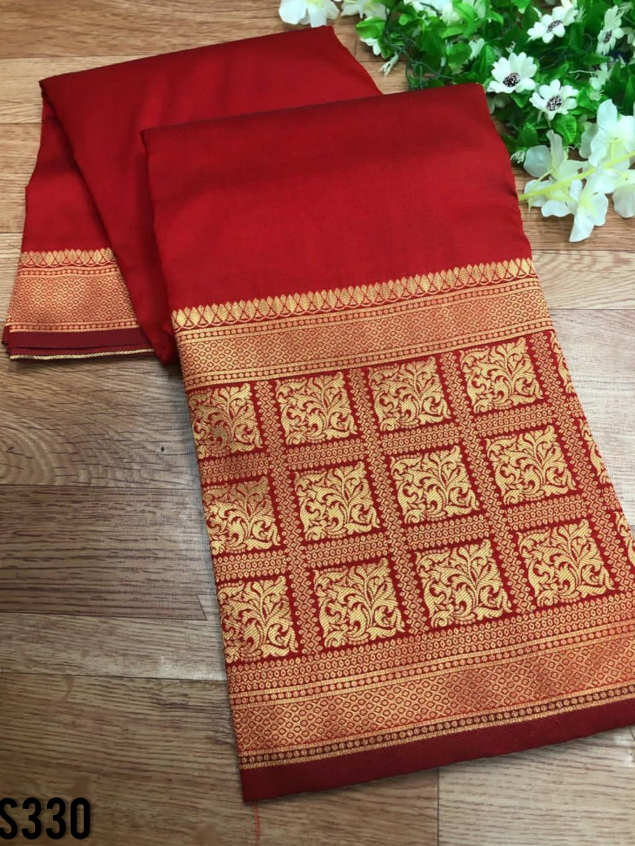 DESIGNER SOFT SILK SAREE S330