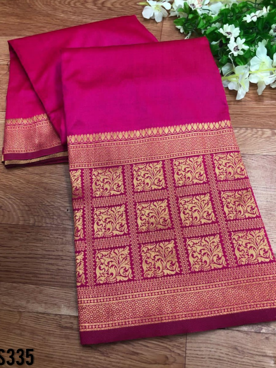 DESIGNER SOFT SILK SAREE S335