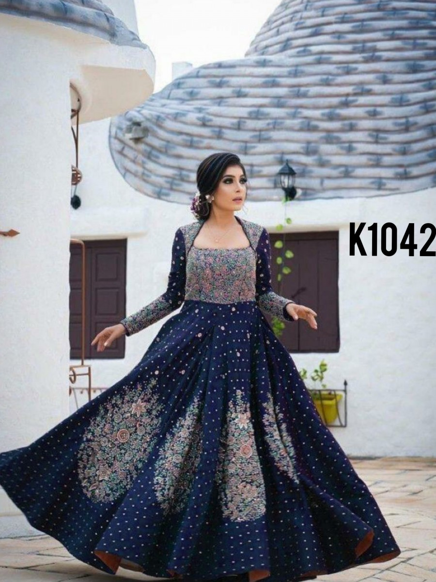 Embroidery gown set K1042