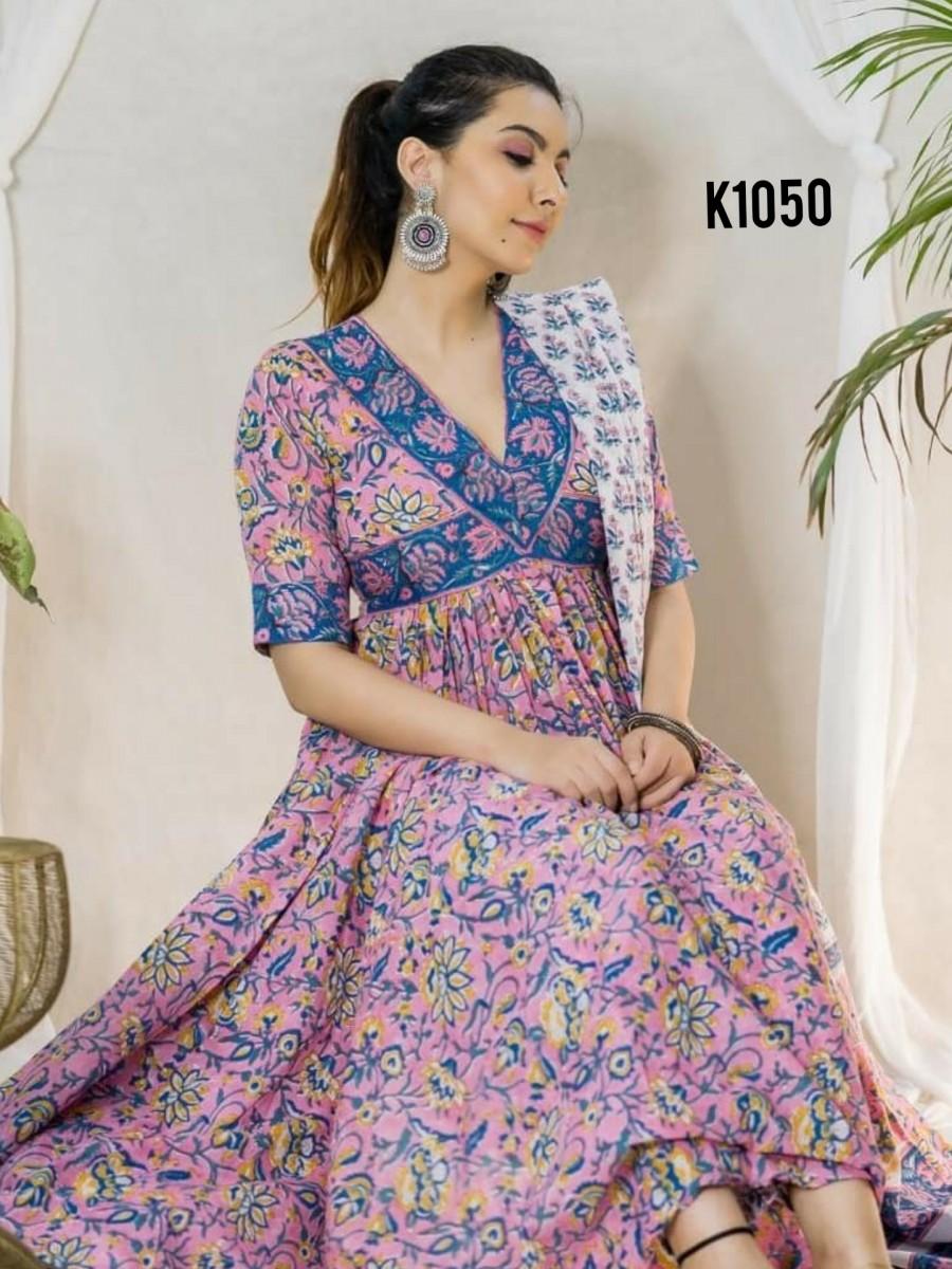 Floral printed kurta K1050