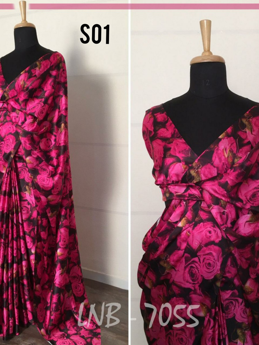 Floral printed saree S01