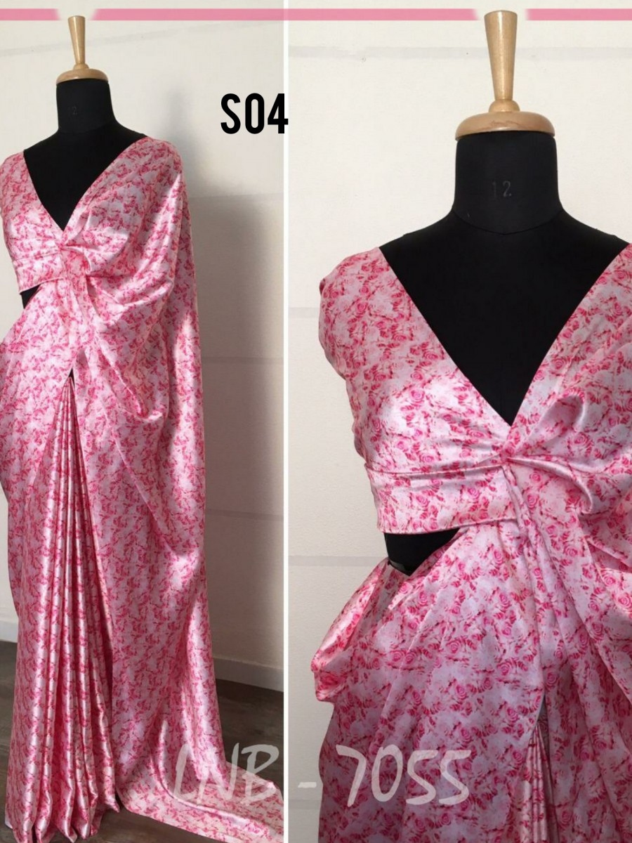Floral printed saree S04