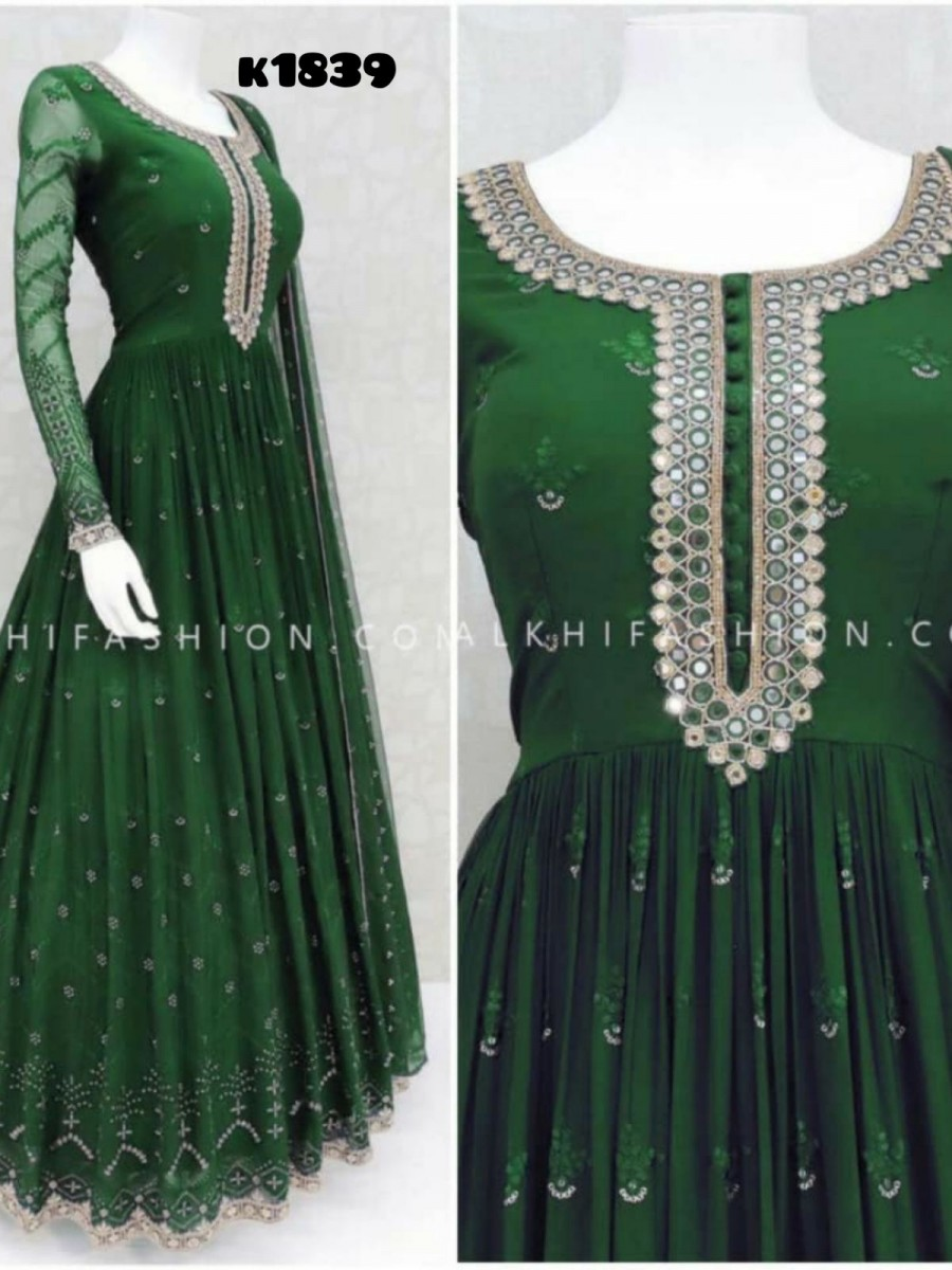 GEORGETTE GOWN WITH EMBROIDERY WORK K1839