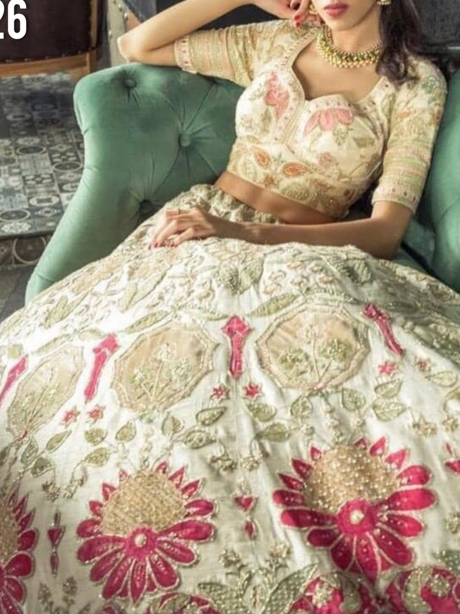GEORGETTE LEHENGA WITH HEAVY EMBROIDERY WORK L226
