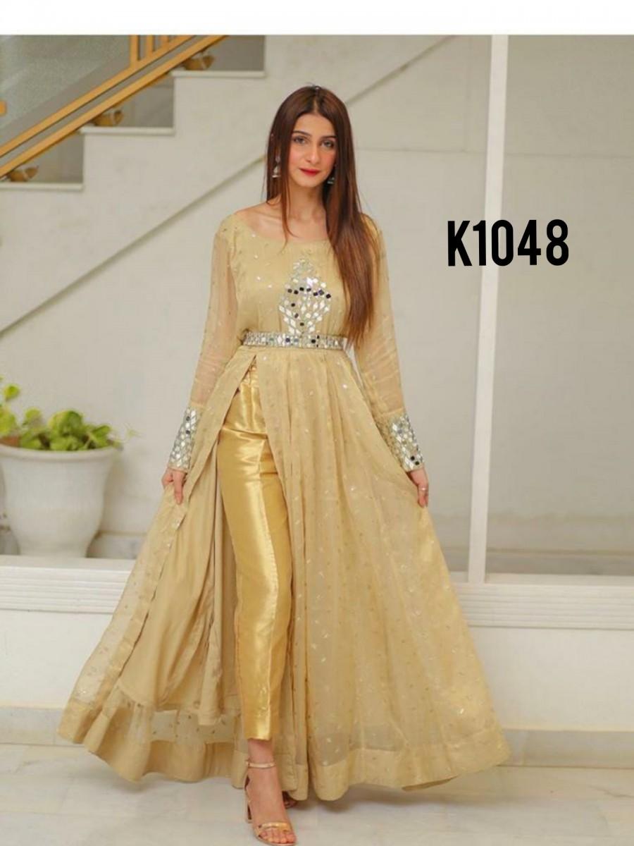 Golden anarkali K1048