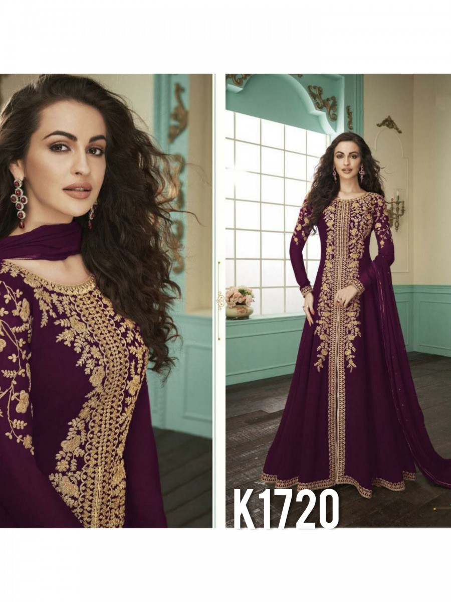 HEAVY FAUX GEORGETTE GOWN10 WITH BADLA KURTI K1720