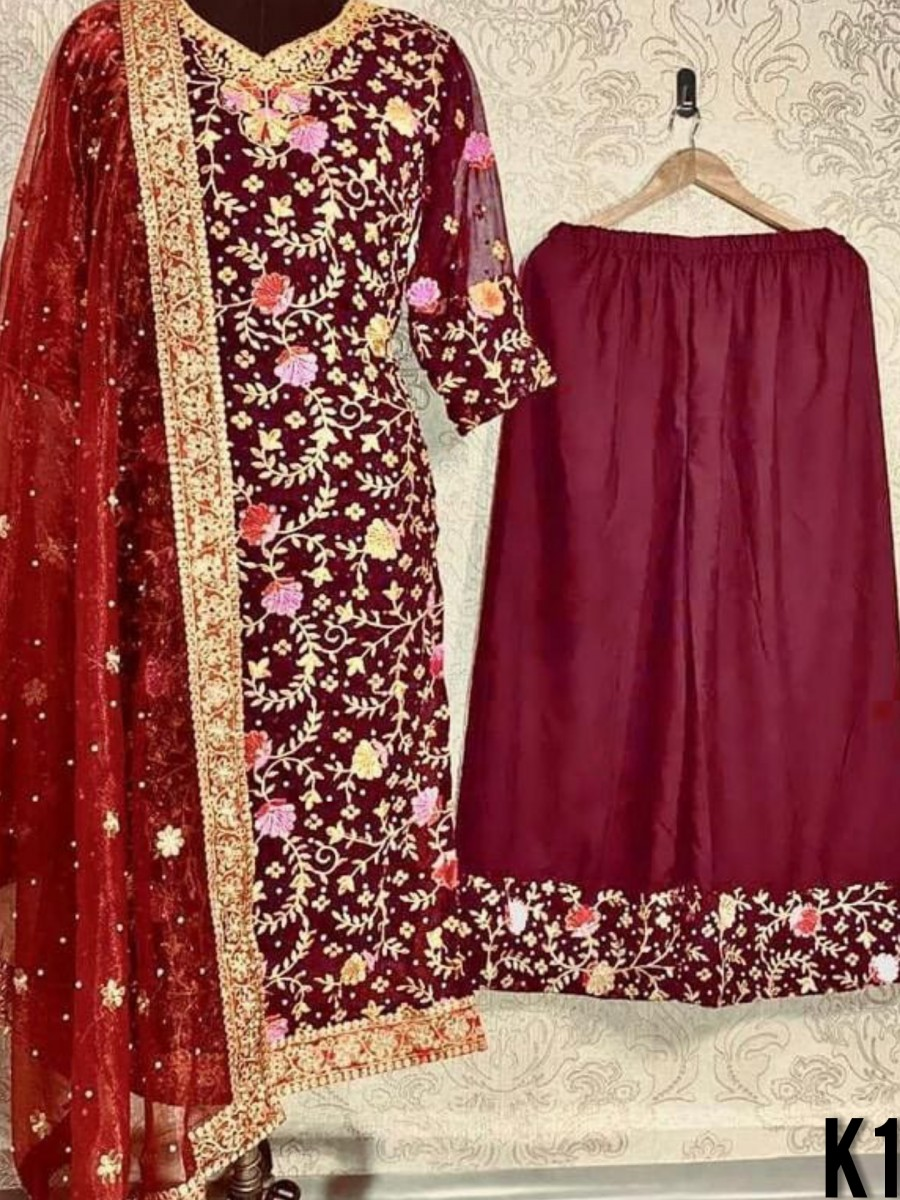 HEAVY GEORGETTE KURTI SET K1584