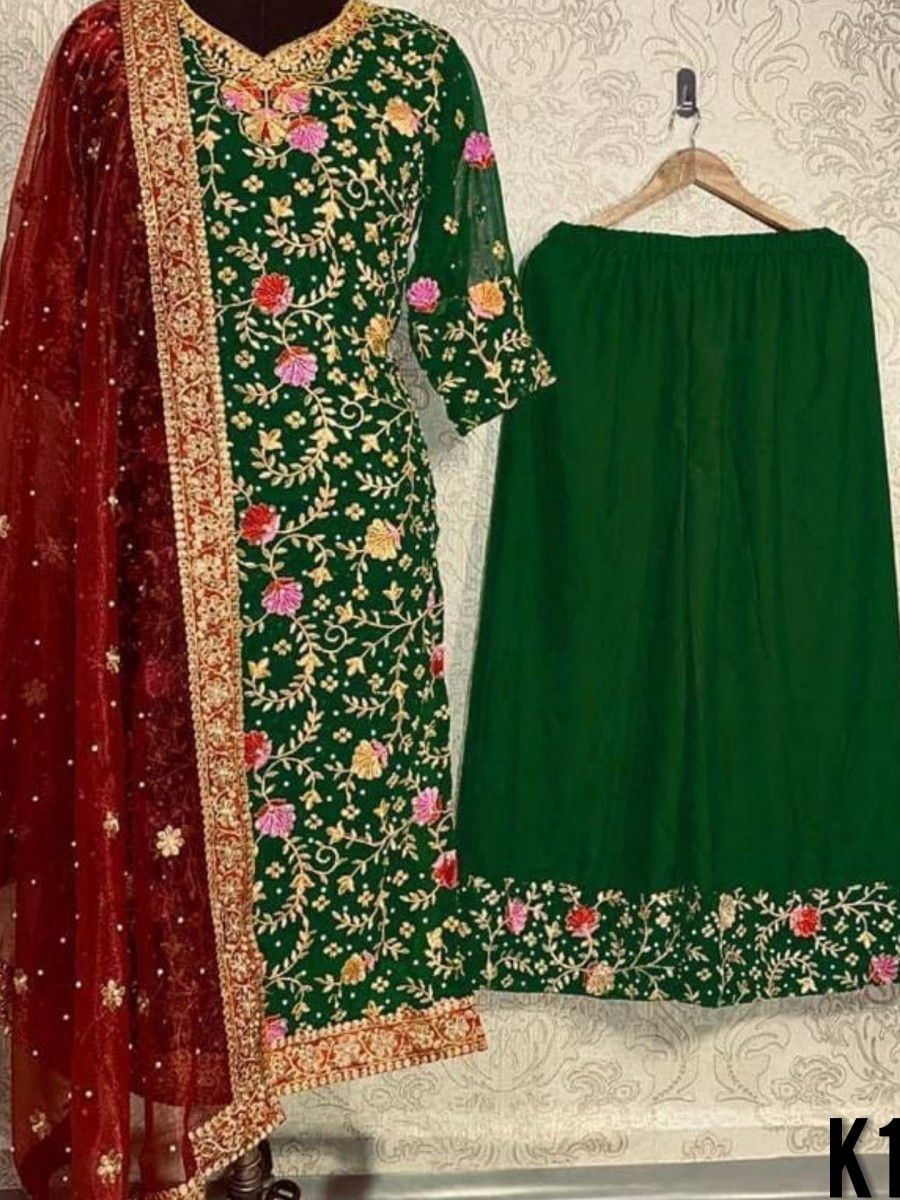 HEAVY GEORGETTE KURTI SET K1585