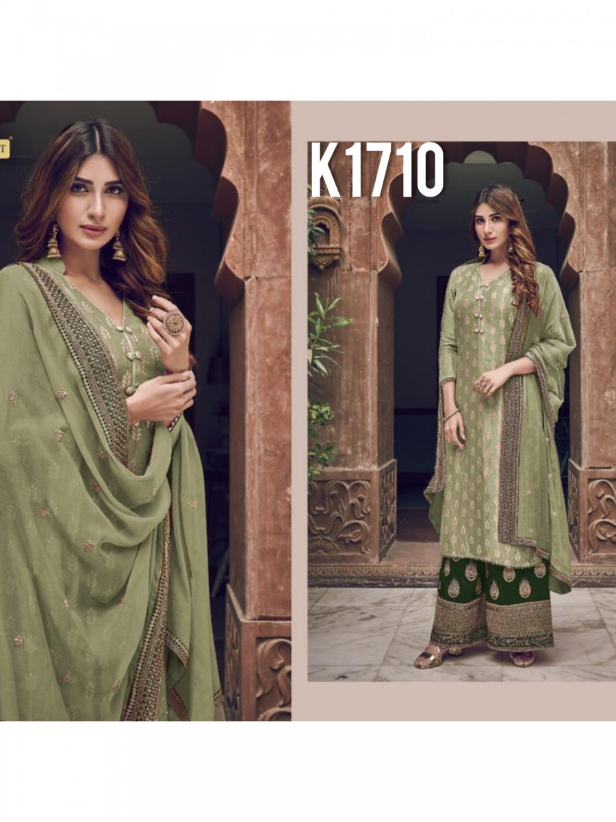 HEAVY GEORGETTE KURTI WITH BADLA WORK  K1710
