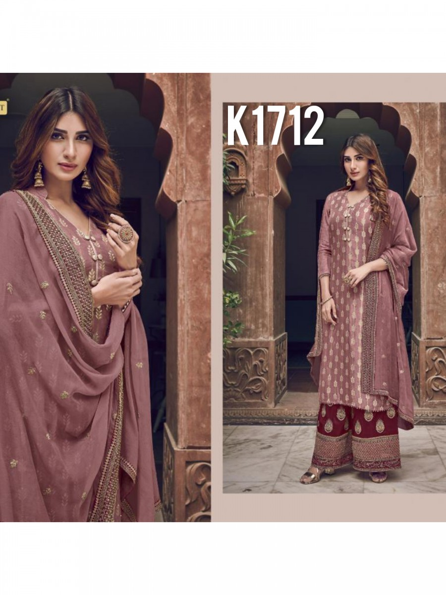 HEAVY GEORGETTE KURTI WITH BADLA WORK  K1712