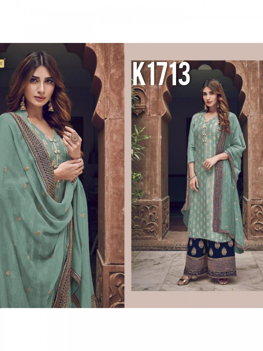 HEAVY GEORGETTE KURTI WITH BADLA WORK K1713