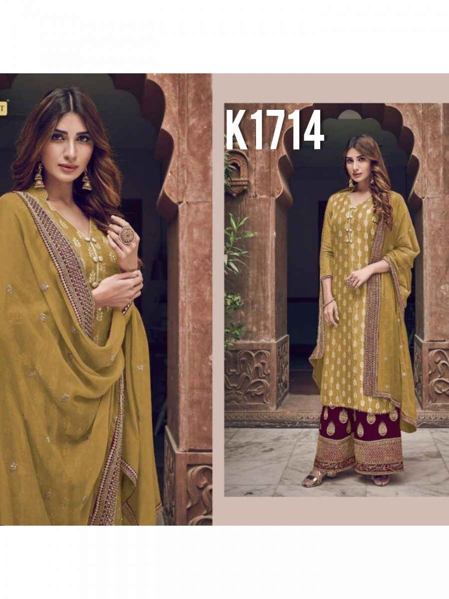 HEAVY GEORGETTE KURTI WITH BADLA WORK K1714