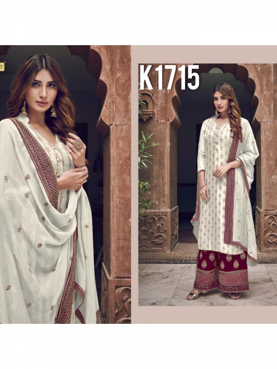 HEAVY GEORGETTE KURTI WITH BADLA WORK K1715