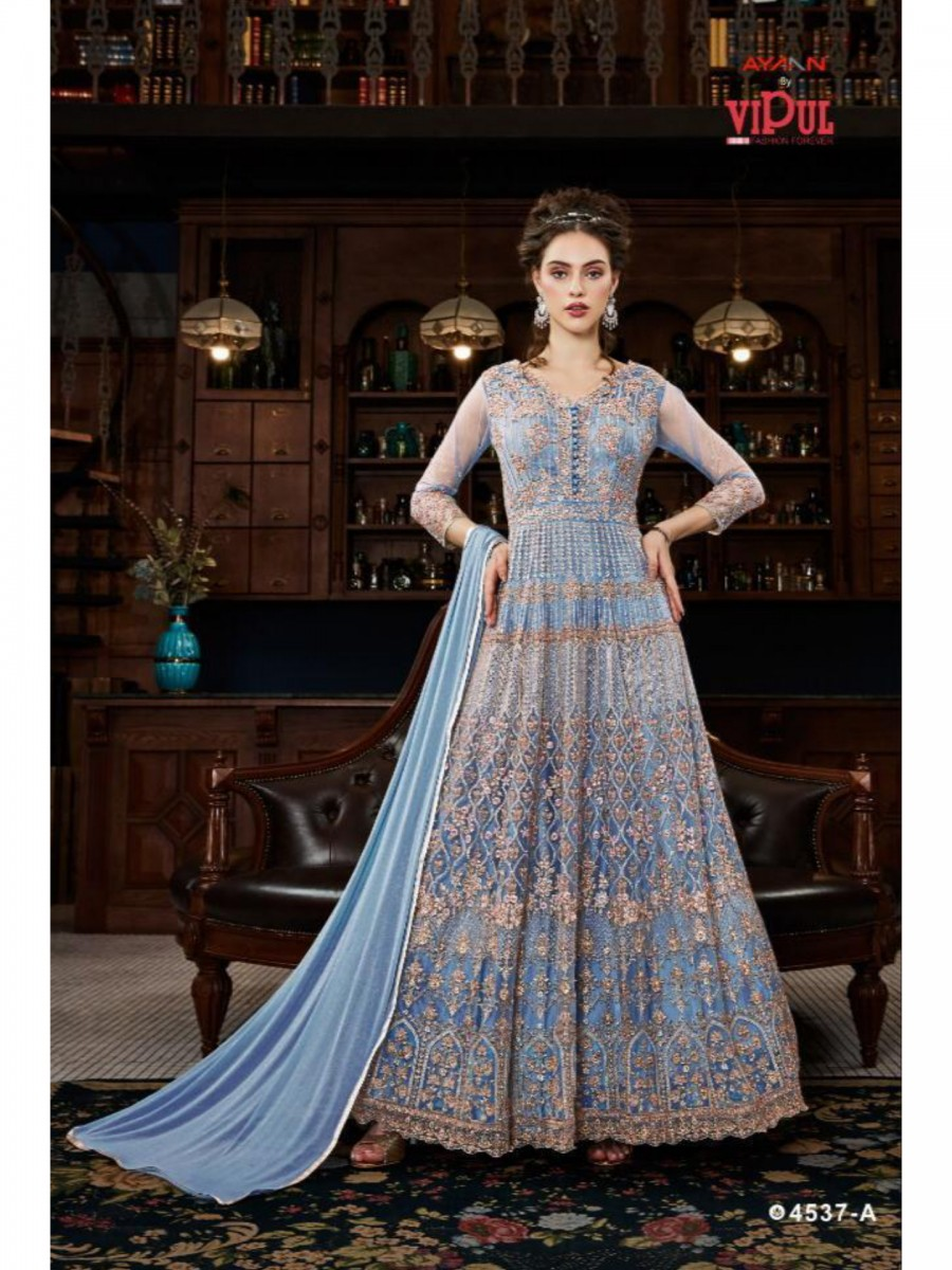 NET GOWN WITH SATIN INNER K199