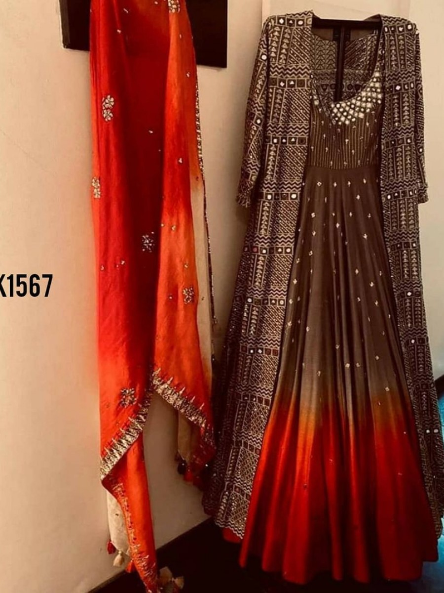 NEW DESIGNER PARTY WEAR KOTI WITH GOWN K1567