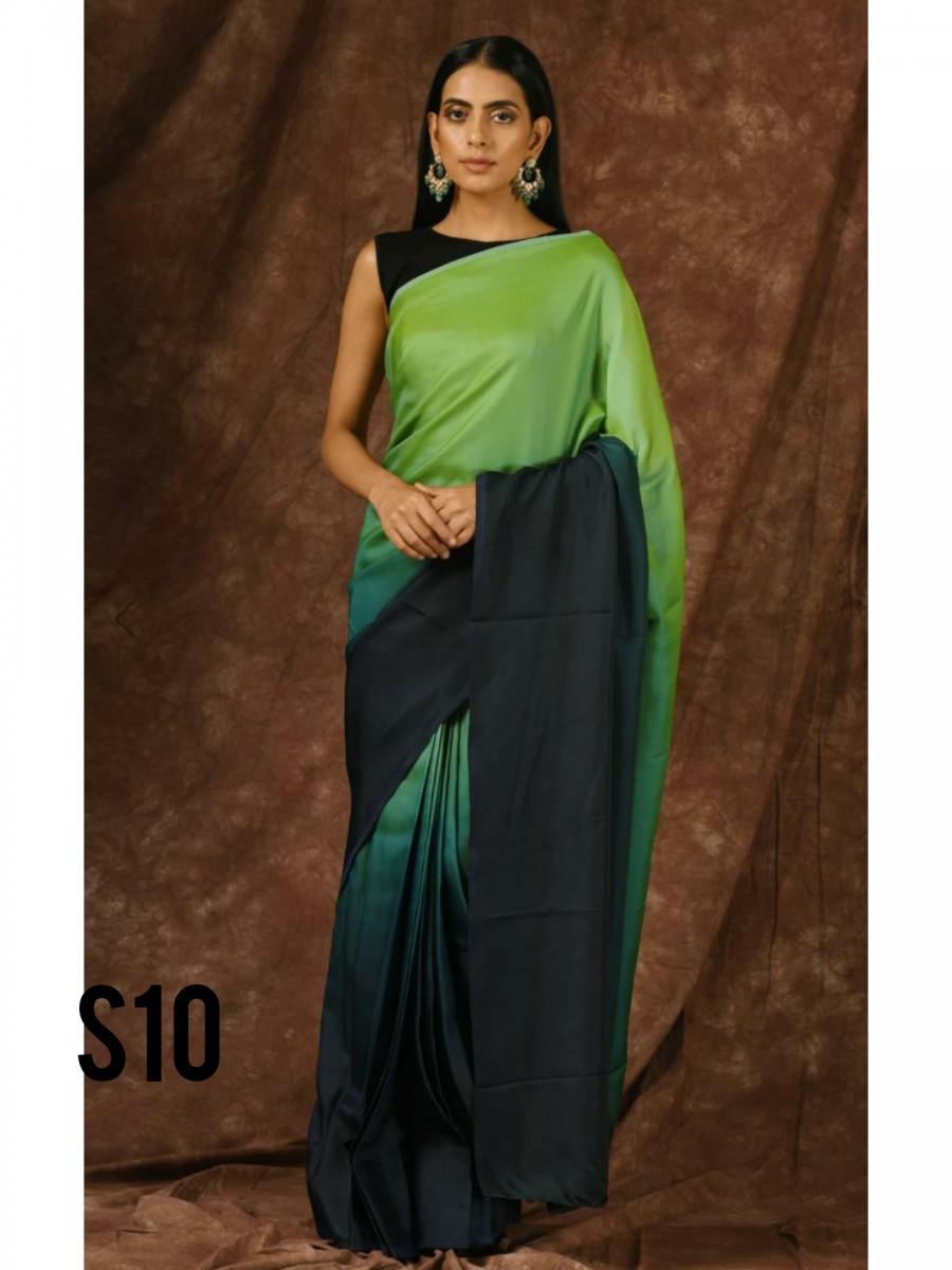 Printed saree set S10